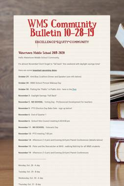 WMS Community Bulletin 10-28-19