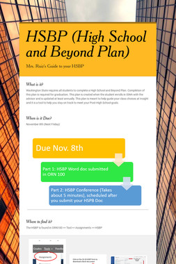 HSBP (High School and Beyond Plan)