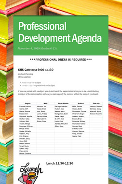 Professional Development Agenda