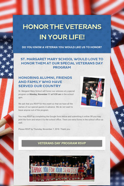 Honor the veterans in your life!