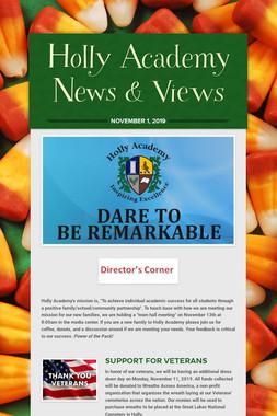 Holly Academy News & Views