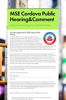 MSE Cordova Public Hearing&Comment