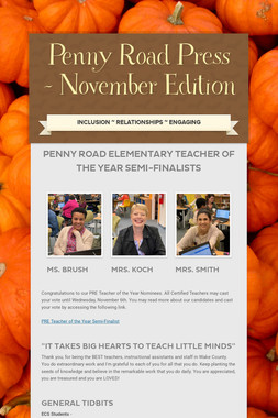 Penny Road Press - November Edition