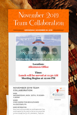 November 2019 Team Collaboration