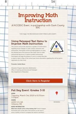 Improving Math Instruction