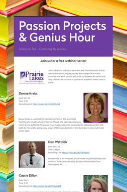 Passion Projects & Genius Hour