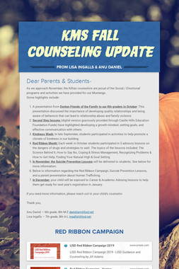 KMS Fall Counseling Update