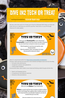 Dive in2 Tech Or Treat