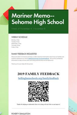 Mariner Memo-- Sehome High School