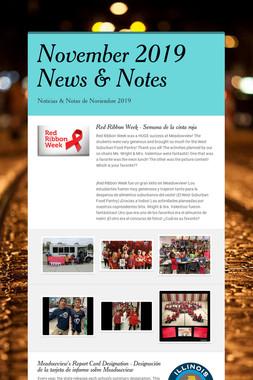November 2019 News & Notes