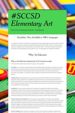 #SCCSD Elementary Art