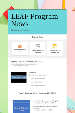 LEAF Program News