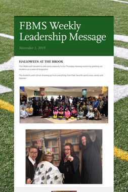 FBMS Weekly Leadership Message