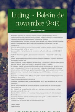 Luling - Boletín de noviembre 2019