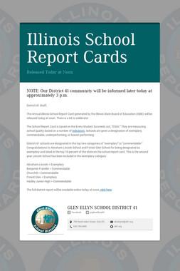 Illinois School Report Cards