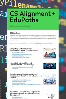 CS Alignment + EduPaths