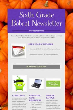 Sixth Grade Bobcat Newsletter