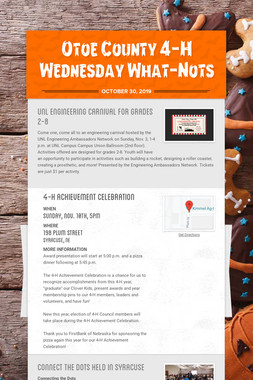 Otoe County 4-H Wednesday What-Nots