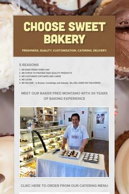 CHOOSE SWEET BAKERY