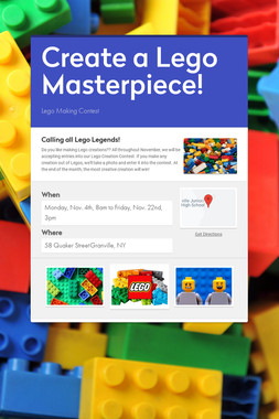 Create a Lego Masterpiece!