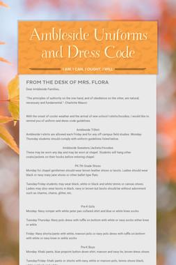 Ambleside Uniforms and Dress Code
