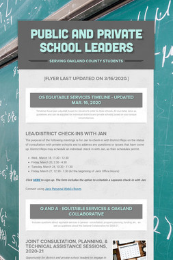 Public and Private School Leaders