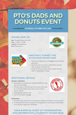 PTO's Dads and Donuts Event