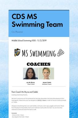 CDS MS Swimming Team