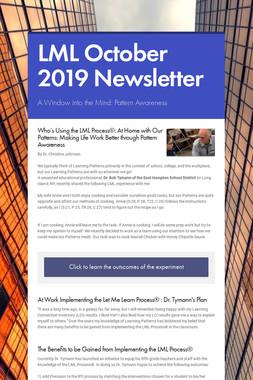 LML October 2019 Newsletter