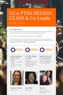 GCA PTSO REGION LEADS & Co-Leads