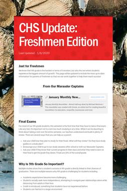 CHS Update: Freshmen Edition