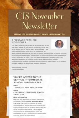 CIS November Newsletter