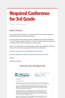 Required Conference for 3rd Grade