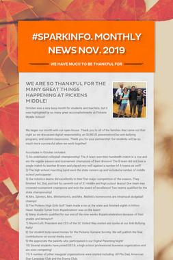#sparkinfo. Monthly News Nov. 2019