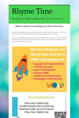 Rhymes in #SCCSD Music Classrooms