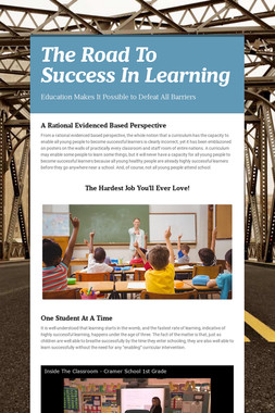 The Road To Success In Learning