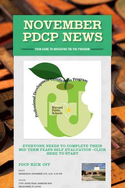 November PDCP News