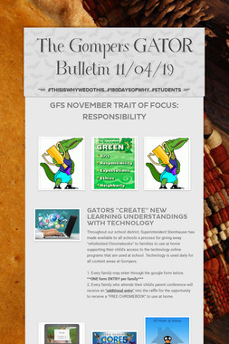 The Gompers GATOR Bulletin 11/04/19