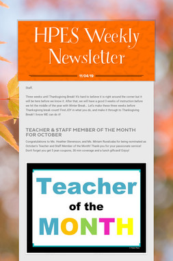 HPES Weekly Newsletter