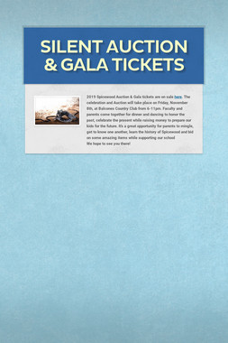 Silent Auction & Gala Tickets