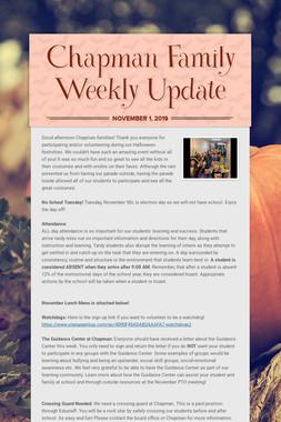 Chapman Family Weekly Update