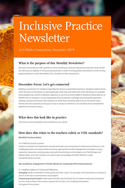 Inclusive Practice Newsletter