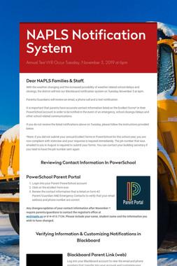 NAPLS Notification System
