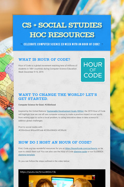 CS + Social Studies HoC Resources