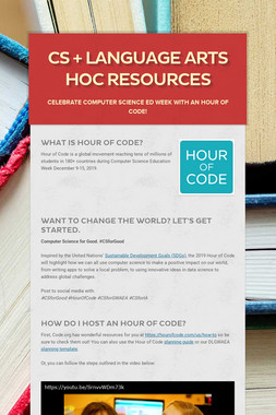 CS + Language Arts HoC Resources