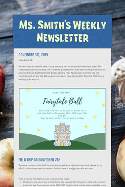 Ms. Smith's Weekly Newsletter