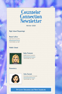 Counselor Connection Newsletter