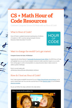 CS + Math Hour of Code Resources