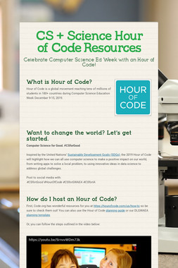 CS + Science Hour of Code Resources