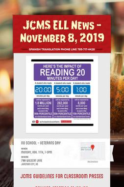 JCMS ELL News - November 8, 2019